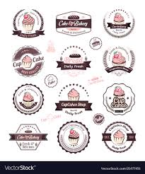 Cupcake And Bakery Logo Design Template Royalty Free Vector