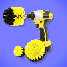 nothing s ever gotten my bathroom as clean as this power drill brush has
