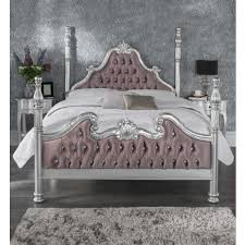 Silver Shabby Chic Bedroom Furniture Silver Antique French Style Bed Shabby Chic Furniture