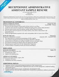 Receptionist Resume Receptionist Resume Template Inspirational