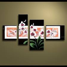 on orchids wall art with large contemporary wall art floral painting orchid flowers artwork