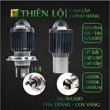 Đèn pha LED xe máy ô tô H4 và BA20D /H6 CHIP LED CSP thế hệ mới cao cấp  siêu sáng Pha trắng Cos Vàng của Thiên Lộ tại Hà Nội
