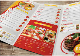 Restaurant Menu Brochure - April.onthemarch.co
