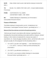 Hr Warning Letter 20 Sample Disciplinary Letter Templates Word Apple Pages Google
