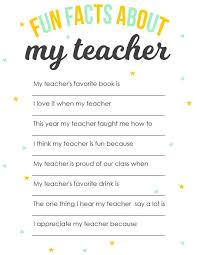 the best teacher questionnaire ideas teacher  teacher appreciation printable surprise your child s teacher this fun facts about my teacher questionnaire