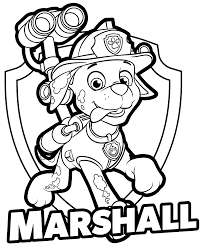 Small Picture PAW Patrol Marshall Coloring Pages Get Coloring Pages