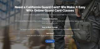 california security guard card training service rypul