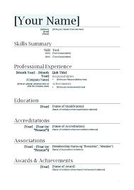 Resume Templates Word Resume Templates Word Doc Resume Template Word
