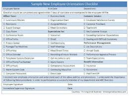 Sample New Employee Orientation Checklist — The Thriving Small Business