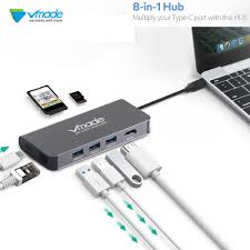 Vmade USB C HUB Type C Cable Adapter 5Gbps RJ45 UHD 4K ...