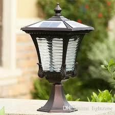Solar Power LED Post Light Outdoor Lighting Landscaping Led Garden Lamp Lamps Street Road Lights Sensor Functions