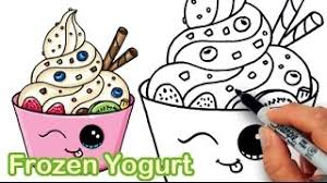 You are viewing some yogurt sketch templates click on a template to sketch over it and color it in and share with your family and friends. Yogurt Coloring Page Draw So Cute