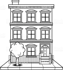 Extraordinary Black And White Apartment Building Clip Art Images