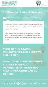 No Objection Letter For Visa Application And Sample Schengen Travel