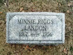 Minnie Riggs Landon (1867-1956) - Find A Grave Memorial