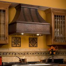 Copper Kitchen Decorations 36 Tuscan Series Copper Wall Mount Range Hood Riveted Bands