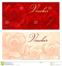 voucher gift certificate coupon template bow royalty stock gift certificate voucher coupon template rose f royalty stock photo
