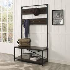 Hall Tree Coat Rack With Bench Hall Tree Benches Settees For Less Overstock 91