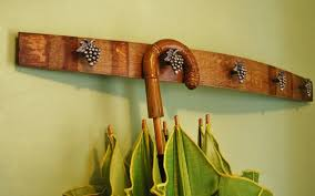 Wine Barrel Stave Coat Rack Wine Barrel Stave Coat Rack Adorned with Grape Cluster Hooks Wine 79