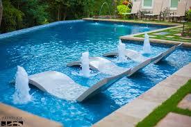 Modern Swimming Pool Rectangle Frame Clear Glass Window Cream