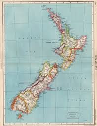 New Zealand Vintage Chart Details About New Zealand Showing Provinces Bartholomew 1952 Old Vintage Map Plan Chart