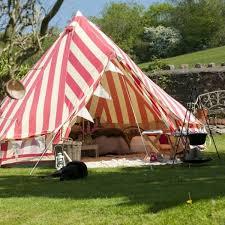 strawberries cream bell tent