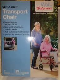 image is loading medline walgreens ultra light transport chair burgundy up