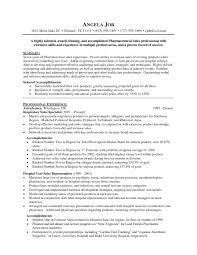 Pharmaceutical Sales Objective For Resume Www Topsimages Com