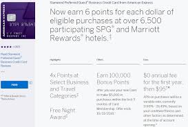 Amex Spg Business Credit Card Review 100k Bonus And 6x At Spg