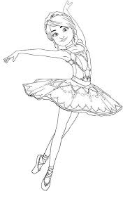 Nutcracker Coloring Pages Free Activity Barbie Ballerina 9 Get