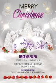Merry Christmas Holiday Free Psd Flyer Template Free Psd