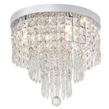 crystal round ceiling light chrome 4xg9
