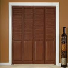 image of cherry louvered interior doors
