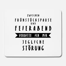 Büroschlaf Bürowitze Job Sprüche Lustig Geschenk Mousepad Spreadshirt