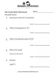 Math Worksheet For 6th Grade Printable Worksheets Addition ...