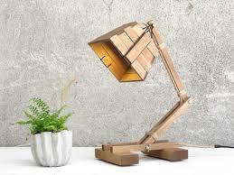 image result for wooden desk lamp