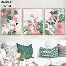 2019 <b>HAOCHU Nordic</b> Watercolor <b>Landscape</b> Tropical Monstera ...