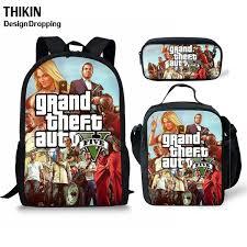 <b>ThiKin Grand Theft</b> Auto Printing Kids School Bag GTA Student ...