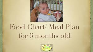 6 Month Baby Food Chart Meal Plan For 6 Months Old