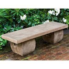 campania international provencal cast stone backless garden bench hayneedle
