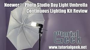neewer photo studio day light umbrella continuous lighting kit review inexpensive light kit