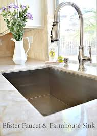 Kitchen sinks and faucets White Farmhouse Sink Beautiful Kitchen my Uncommon Slice Of Suburbia Costco Wholesale Kitchen Updates Including Farmhouse Sink And Faucet Kitchen