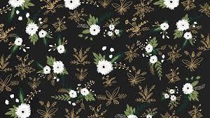 Dark Floral Computer Wallpaper