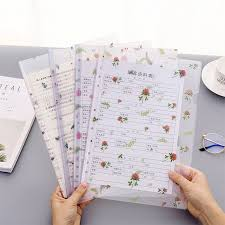 Cute Flower <b>File</b> Folder <b>Creative</b> Transparent Folder Filing Product ...