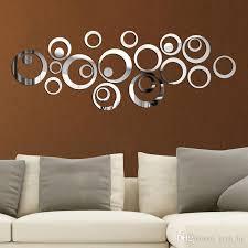 acrylic circles 3d wall sticker diy