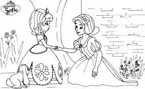 Coloriage A Imprimer Princesse Sofia Et Blanche Neige Gratuit Et