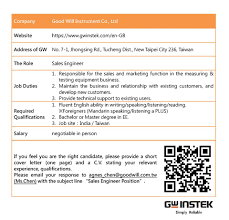Elite Recruitment ] - Sales Engineer... - Taiwan Education Center In ...