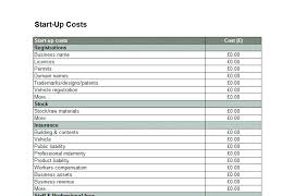 Startup Cost Template Cost Of Doing Business Spreadsheet Templates Violeet