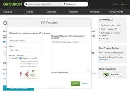 screen shot of groupon s new grouponvelope gift card option at groupon graphic