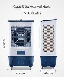 Quạt Điều Hòa Hơi Nước VT6800-60 Máy Làm Mát Bằng Hơi Nước Không Khí, Tiết  Kiệm Điện, Giảm Tiếng Ồn Tốt - Quạt hơi nước, phun sương Thương hiệu OEM